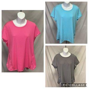 3 Women's Avia workout shirts size XXL
